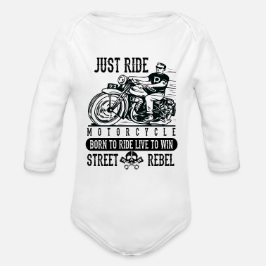 British Finest Industrial Icons Just Ride Motorcycle - Organic Long-Sleeved Baby Bodysuit