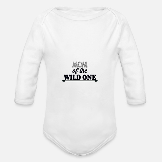 Wild Girl Baby Clothing - Mutter der wilden - Organic Long-Sleeved Baby Bodysuit white