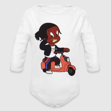 Asap Rocky Cartoon - Organic Long Sleeve Baby Bodysuit