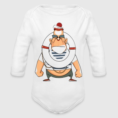 caricature 21 - Organic Long Sleeve Baby Bodysuit