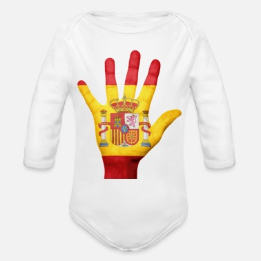 Spain spain - Organic Long Sleeve Baby Bodysuit