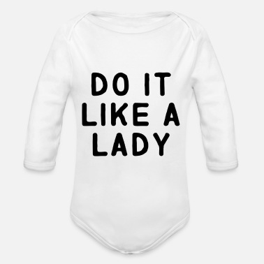 Lady Lady - Organic Long-Sleeved Baby Bodysuit
