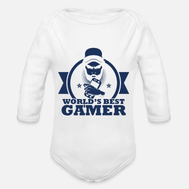 Pc PC Gamer PC Gamer PC Gamer PC Gamer - Organic Long-Sleeved Baby Bodysuit