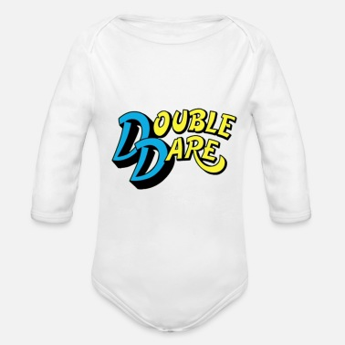 Double Blues Double Dare blue - Organic Long-Sleeved Baby Bodysuit