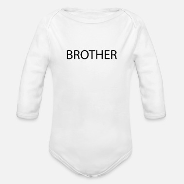 Typography Brother Typography - Organic Long-Sleeved Baby Bodysuit