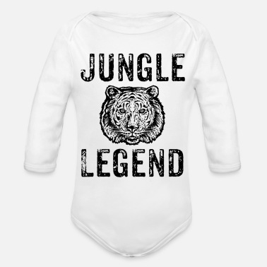 Tigers - Organic Long-Sleeved Baby Bodysuit