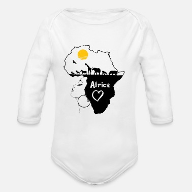 South Africa Africa Africa - Organic Long-Sleeved Baby Bodysuit