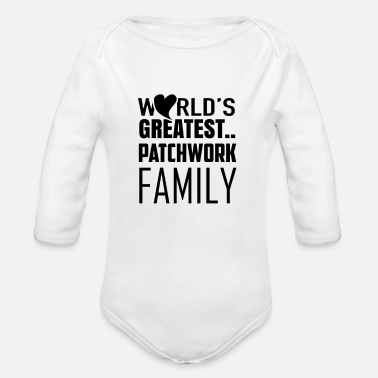 Best World's greatest patchwork family - Organic Long-Sleeved Baby Bodysuit
