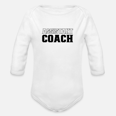 Assistant Coach Assistant coache Assistant Coach Job Co Trainer - Organic Long-Sleeved Baby Bodysuit