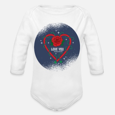Love You Love You - Organic Long-Sleeved Baby Bodysuit