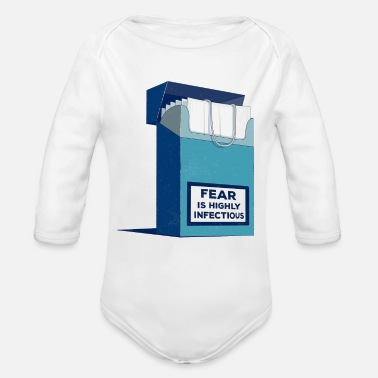 Infectious Coronavirus 2020 — Fear is highly Infectious - Organic Long-Sleeved Baby Bodysuit