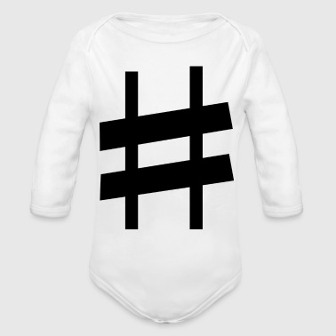 Note Clue sharp note - Organic Long Sleeve Baby Bodysuit