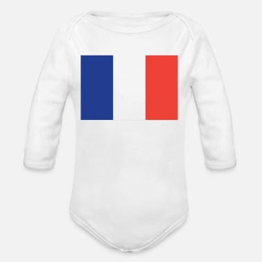 French Flag Flag of France Cool French Flag - Organic Long Sleeve Baby Bodysuit
