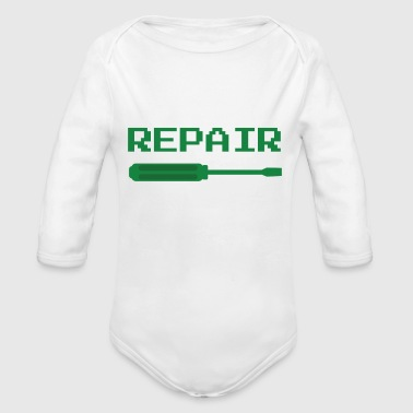 repair - Organic Long Sleeve Baby Bodysuit