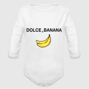 dolce and banana ironic satire humor fashion trend - Organic Long Sleeve Baby Bodysuit