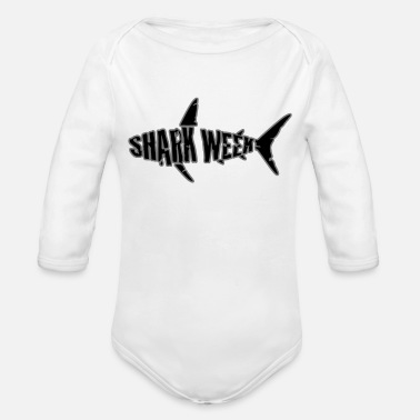 Week shark week - Organic Long-Sleeved Baby Bodysuit