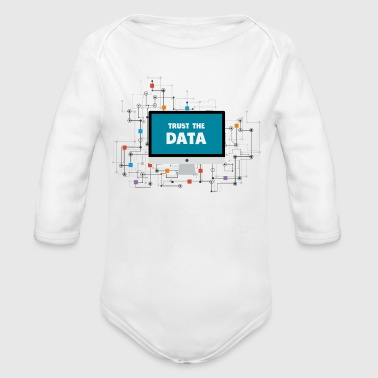 Data Trust The Data - Organic Long Sleeve Baby Bodysuit