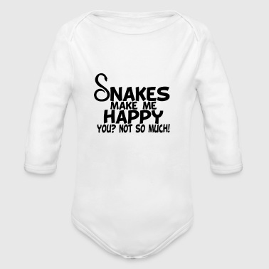 Kara snakes make me happy you not so much - Organic Long Sleeve Baby Bodysuit