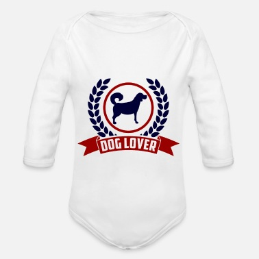 For Dog Lover Dog Lover | Gift for Dog Lovers and Owners - Organic Long-Sleeved Baby Bodysuit
