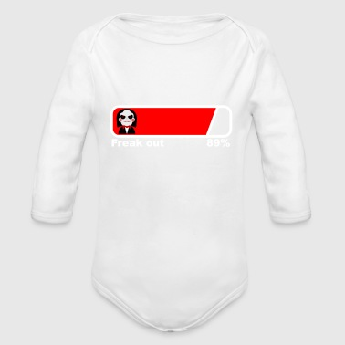 Loading Freak out 89% fun saying satire - Organic Long Sleeve Baby Bodysuit