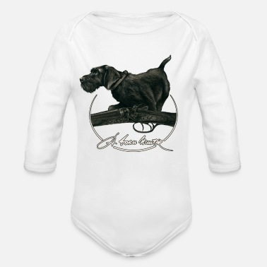 German A Born Hunter - Organic Long-Sleeved Baby Bodysuit