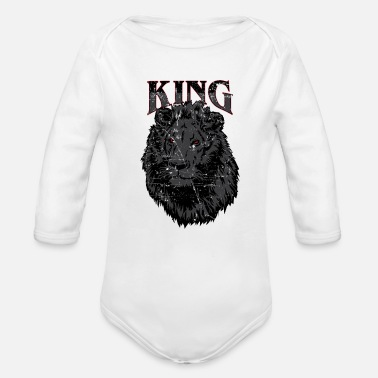 Kingdom Lion King Wild Shirts & Gifts - Organic Long-Sleeved Baby Bodysuit