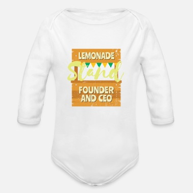 Founder Lemonade Stand Founder and CEO - Organic Long-Sleeved Baby Bodysuit
