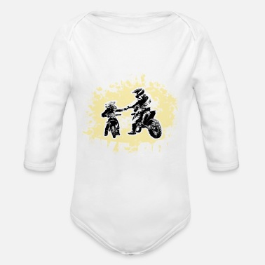 Son Like Father - Like Son Tshirt Gifts - Organic Long-Sleeved Baby Bodysuit