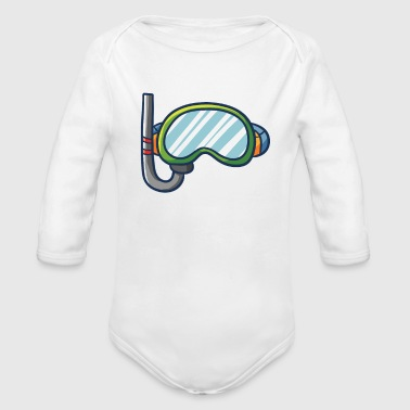 Snorkel beach - Organic Long Sleeve Baby Bodysuit