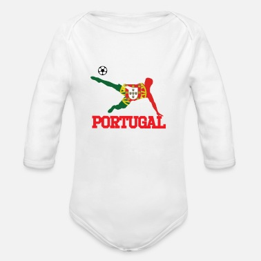 Portugal portugal soccer, #portugal - Organic Long-Sleeved Baby Bodysuit