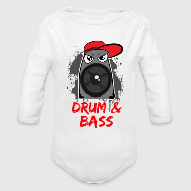 DRUM BASS - Organic Long Sleeve Baby Bodysuit