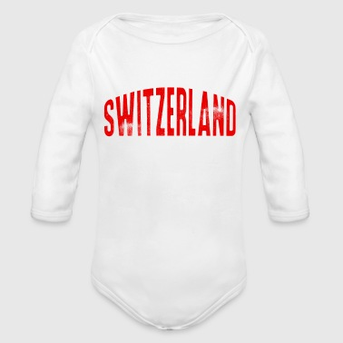Switzerland Champion Sports Alps Europe - Organic Long Sleeve Baby Bodysuit