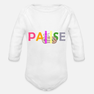 Pause pause - Organic Long Sleeve Baby Bodysuit