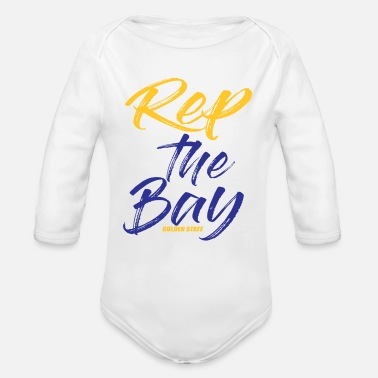 Golden State Warriors Rep The Bay Golden State - Organic Long-Sleeved Baby Bodysuit