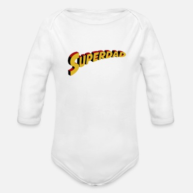Super Dad Super Dad - Organic Long-Sleeved Baby Bodysuit