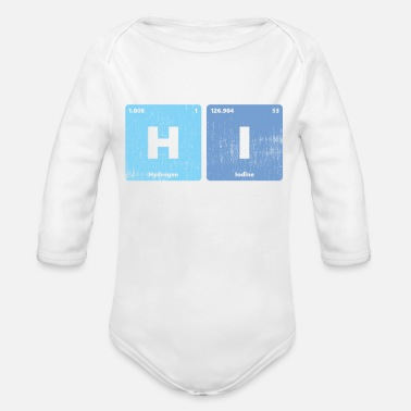 Periodic Table Of The Elements Hi Checmical Elements Periodic Table - Organic Long-Sleeved Baby Bodysuit