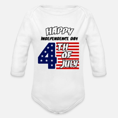Independence Day 4 th of july - Organic Long Sleeve Baby Bodysuit