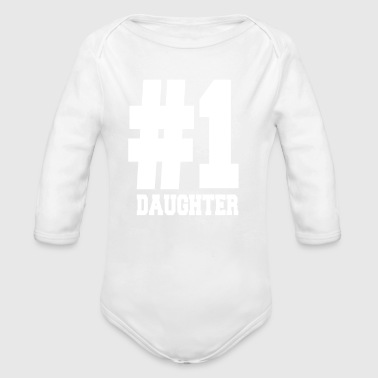 Number 1 Daughter Tee Shirts | Fancy For Daughters - Organic Long Sleeve Baby Bodysuit