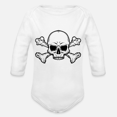 Skull And Bones Skull and Bones - Organic Long-Sleeved Baby Bodysuit