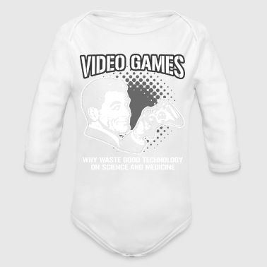 VIDEO GAMES - Organic Long Sleeve Baby Bodysuit