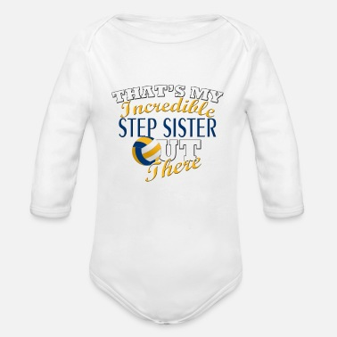 Step Brothers Volleyball Step Sister or Brother Gift - Organic Long Sleeve Baby Bodysuit