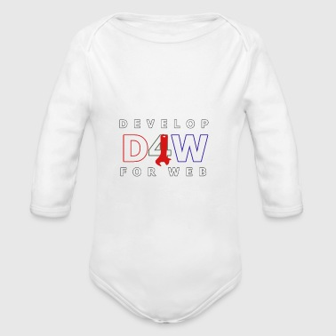 Web Developer Develop For Web - Organic Long Sleeve Baby Bodysuit