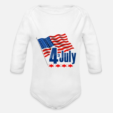 Independence Day - Organic Long-Sleeved Baby Bodysuit