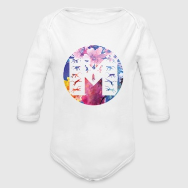 M for Monkey T-Shirts & Gifts - Organic Long Sleeve Baby Bodysuit
