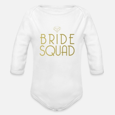 Bachelorette Bride Squad Shirt - Gold Team Bachelorette Party - Organic Long-Sleeved Baby Bodysuit
