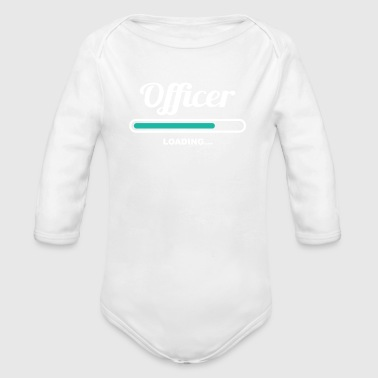 OFFICER LOADING - FANCY TSHIRTS FOR OFFICERS - Organic Long Sleeve Baby Bodysuit