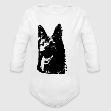German Shepherd,Shepherd,Doglover, - Organic Long Sleeve Baby Bodysuit