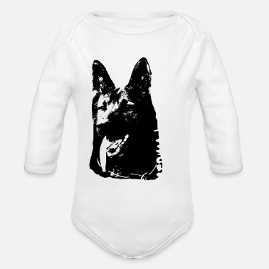 German Shepherd German Shepherd,Shepherd,Doglover, - Organic Long Sleeve Baby Bodysuit