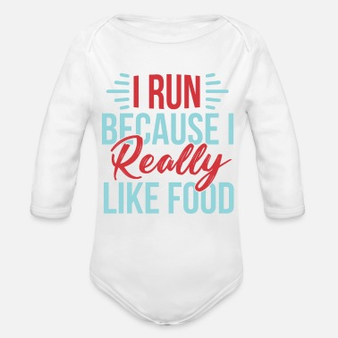 Sports running - Organic Long-Sleeved Baby Bodysuit