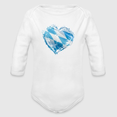 Bavarian Heart - Organic Long Sleeve Baby Bodysuit